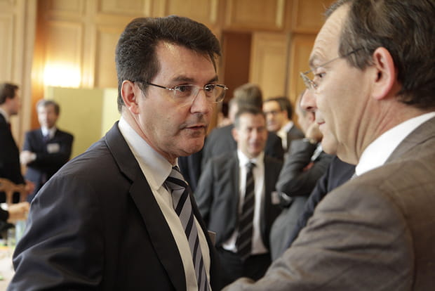 Olivier Roussat (Bouygues Telecom) et Jean-Paul Cottet (Orange)