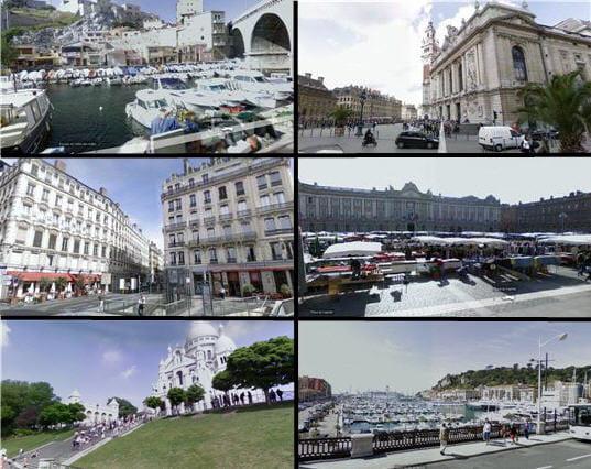 Six villes à l'honneur