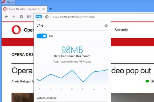 Opera va intégrer un VPN gratuit