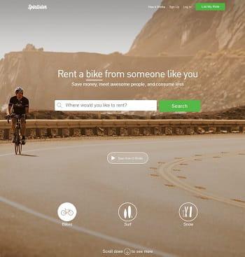 spinlister, l'airbnb des vélos