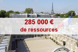 il s'agit de la somme de 2007. en 2008, elle est prévue à 365000 euros.