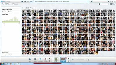 voici les 500 acteurs et actrices les plus connus, affichés sous pivot