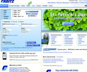 capture d'écran d'orbitz.com
