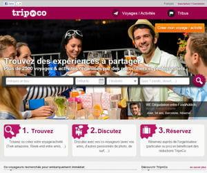 tripnco permet aux internautes de se regrouper par centres d'intérêt pour