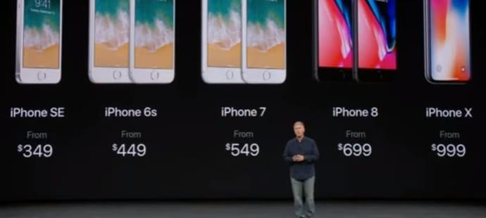 iPhone 8et iPhone X: quels sont les prix en précommande?
