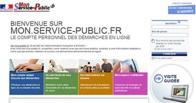 capture d'écran du site mon-service-publique.fr.
