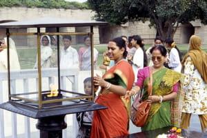un hommage à gandhi, à new delhi.