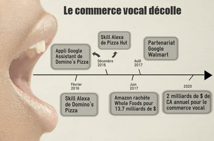 Le commerce vocal sur la voie (rapide) d'un CA de 2 milliards de dollars