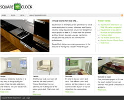 la page d'accueil de squareclock