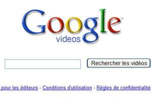 le moteur de recherche de vidéos de google