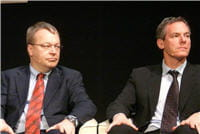 stephen elop, pdg de nokia et paul jacobs,pdg de qualcomm