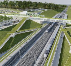 la future gare tgv besançon franche-comté.