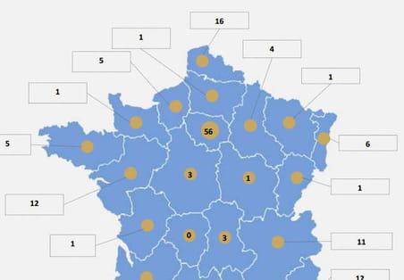 Quelle est la répartition des data centers en France par région?