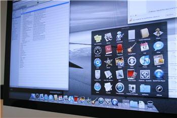 illustration de l'environnement applicatif intégré de l'imac, et du dock (la