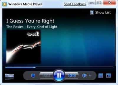 un aperçu de windows media player 12