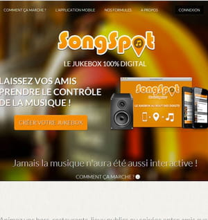 songspot aide à créer un jukebox participatif.
