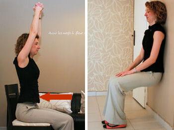 profitez d'une pause au bureau pour faire un peu de renforcement musculaire.