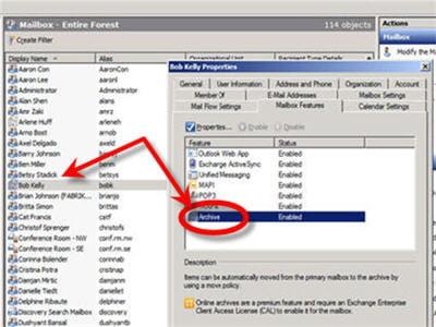 exchange server 2010 permet de réduire le nombre de lectures / écritures sur les