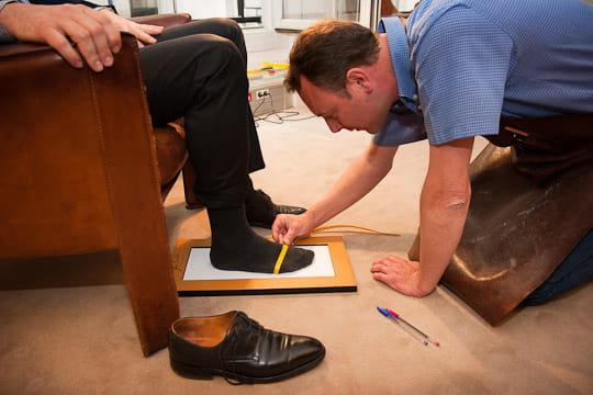 John Lobb : mesures du pied