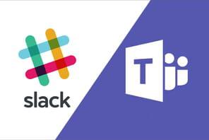 Les versions gratuites de Microsoft Teams et Slack au coude à coude