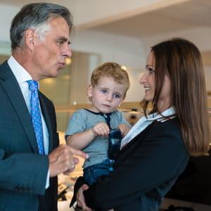 c'est l'occasion de faire venir les enfants sur le lieu de travail.