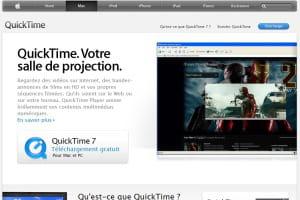 capture d'écran apple.com/fr/quicktime/