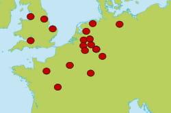 18 center parcs existent, tous en europe: 6 aux pays-bas, 4 en france et en