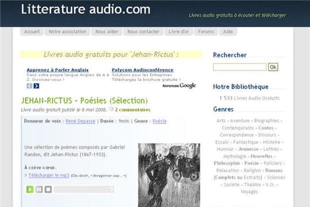 Littérature audio podcast