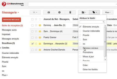 la messagerie gmail est intégrée aux google apps.
