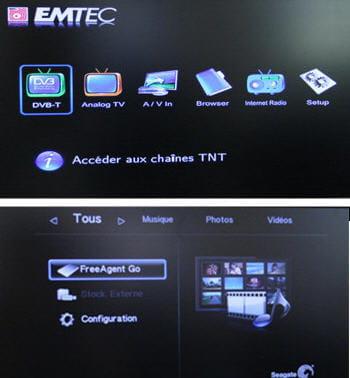 deux interfaces très simples et pratiques, où la différence des fonctionnalités