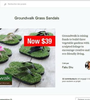 tongs de pelouse.