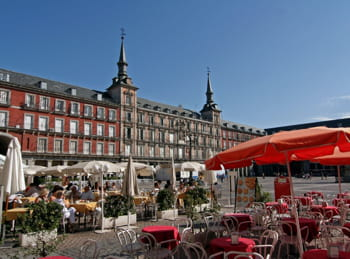 la plaza mayor, à madrid.
