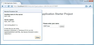 figure 1-6 - première application gwt