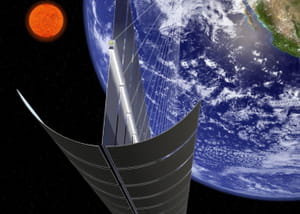 l'énergie produite dans l'espace serait acheminée vers la terre par rayon laser