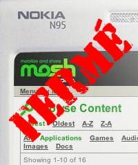 nokia a fermé son réseau social sur mobile mosh au début de l'année