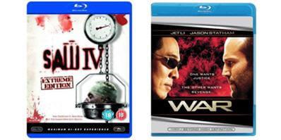 war et saw 4, les deux premiers films compatibles blu-ray profile 2.0