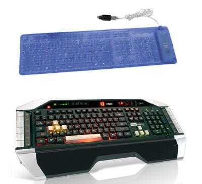 saitek cyborg keyboard et clavier heden souple bleu