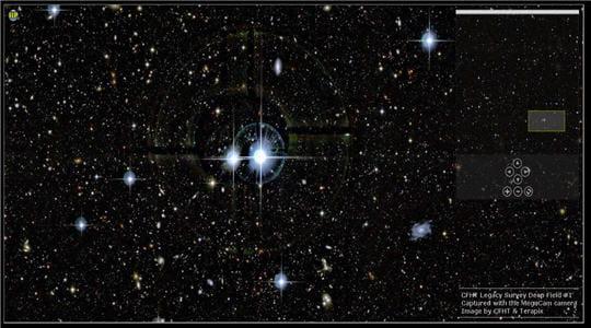 CFHT Deep Field 1, photo du ciel