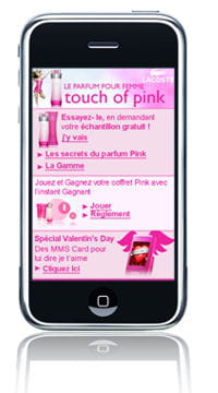 le site internet mobile lacoste touch of pink