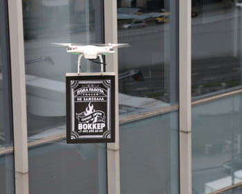 le drone publicitaire.
