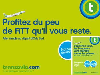 deux exemples d'affiches extraites de la campagne pour la compagnie low cost