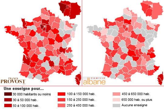 Coiffure: Franck Provost et Camille Albane négligent l'Est