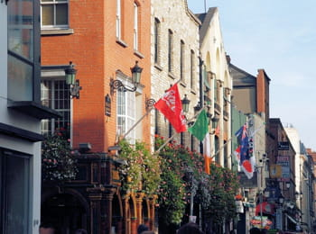 le quartier de temple bar, à dublin.
