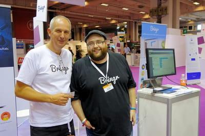christophe delauve (à gauche) et simon robic (à droite), directeur commercial et