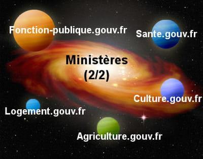 la galaxie web des ministères (2/2).