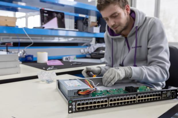 Des switchs conçus et assemblé par Scaleway