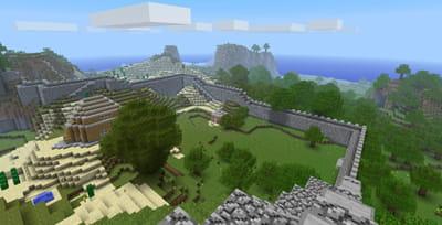 exemple d'un paysage de minecraft