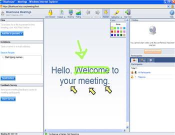 bluehouse permet de réaliser toutes sortes d'annotations sur ses présentations