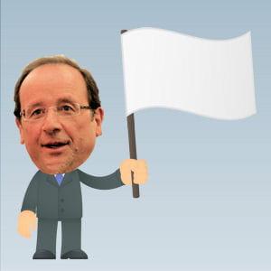 le drapeau blanc est souvent de sortie avec françois hollande.