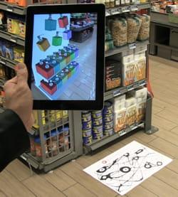 le principe de la réalité augmentée permet de visualiser sur un terminal un